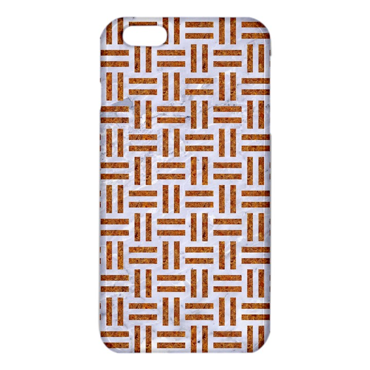 WOVEN1 WHITE MARBLE & RUSTED METAL (R) iPhone 6 Plus/6S Plus TPU Case