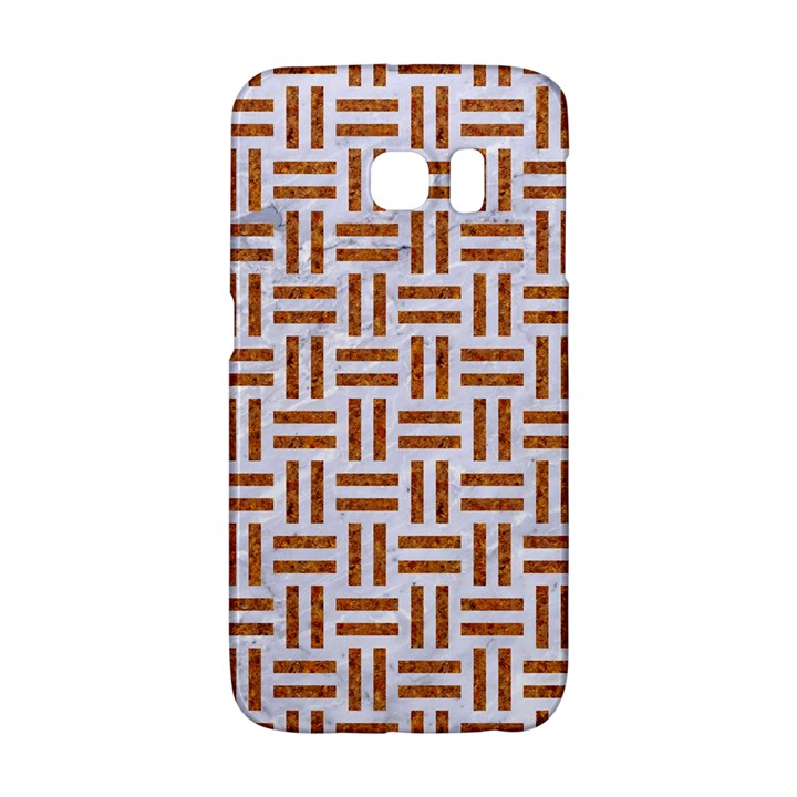 WOVEN1 WHITE MARBLE & RUSTED METAL (R) Galaxy S6 Edge
