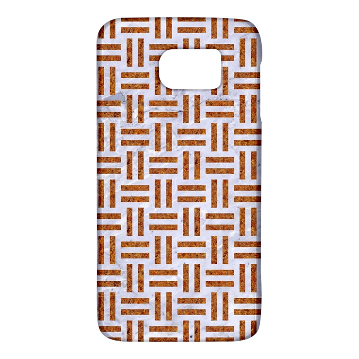 WOVEN1 WHITE MARBLE & RUSTED METAL (R) Galaxy S6