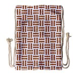 WOVEN1 WHITE MARBLE & RUSTED METAL (R) Drawstring Bag (Large) Front