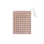 WOVEN1 WHITE MARBLE & RUSTED METAL (R) Drawstring Pouches (XS)  Front