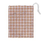 WOVEN1 WHITE MARBLE & RUSTED METAL (R) Drawstring Pouches (Extra Large) Front