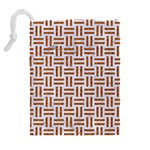 WOVEN1 WHITE MARBLE & RUSTED METAL (R) Drawstring Pouches (Extra Large) Back