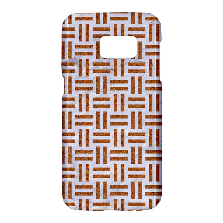 WOVEN1 WHITE MARBLE & RUSTED METAL (R) Samsung Galaxy S7 Hardshell Case