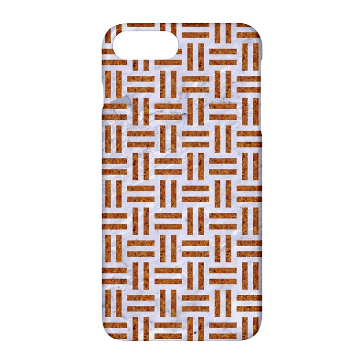 WOVEN1 WHITE MARBLE & RUSTED METAL (R) Apple iPhone 7 Plus Hardshell Case