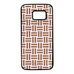 WOVEN1 WHITE MARBLE & RUSTED METAL (R) Samsung Galaxy S7 Black Seamless Case Front
