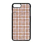 WOVEN1 WHITE MARBLE & RUSTED METAL (R) Apple iPhone 7 Plus Seamless Case (Black) Front