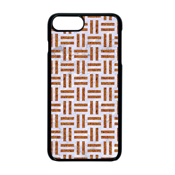 WOVEN1 WHITE MARBLE & RUSTED METAL (R) Apple iPhone 7 Plus Seamless Case (Black)