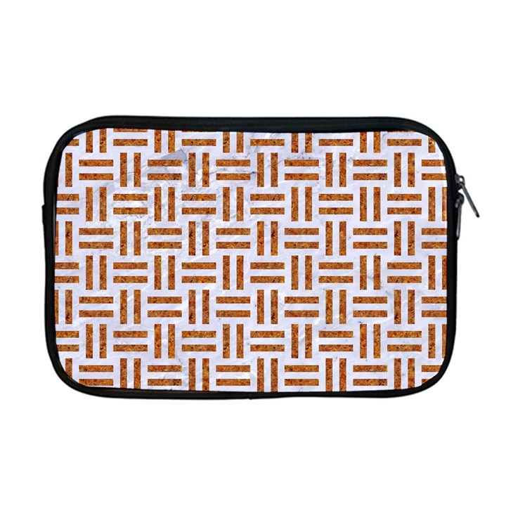 WOVEN1 WHITE MARBLE & RUSTED METAL (R) Apple MacBook Pro 17  Zipper Case