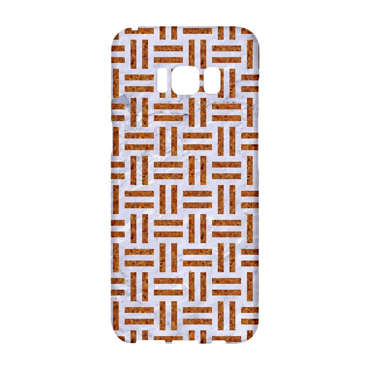 WOVEN1 WHITE MARBLE & RUSTED METAL (R) Samsung Galaxy S8 Hardshell Case
