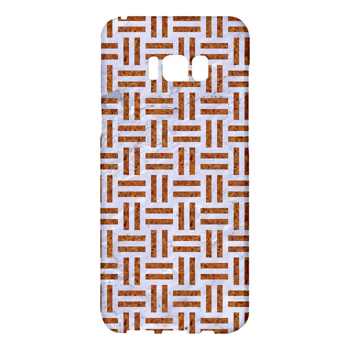 WOVEN1 WHITE MARBLE & RUSTED METAL (R) Samsung Galaxy S8 Plus Hardshell Case