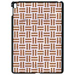 WOVEN1 WHITE MARBLE & RUSTED METAL (R) Apple iPad Pro 9.7   Black Seamless Case Front