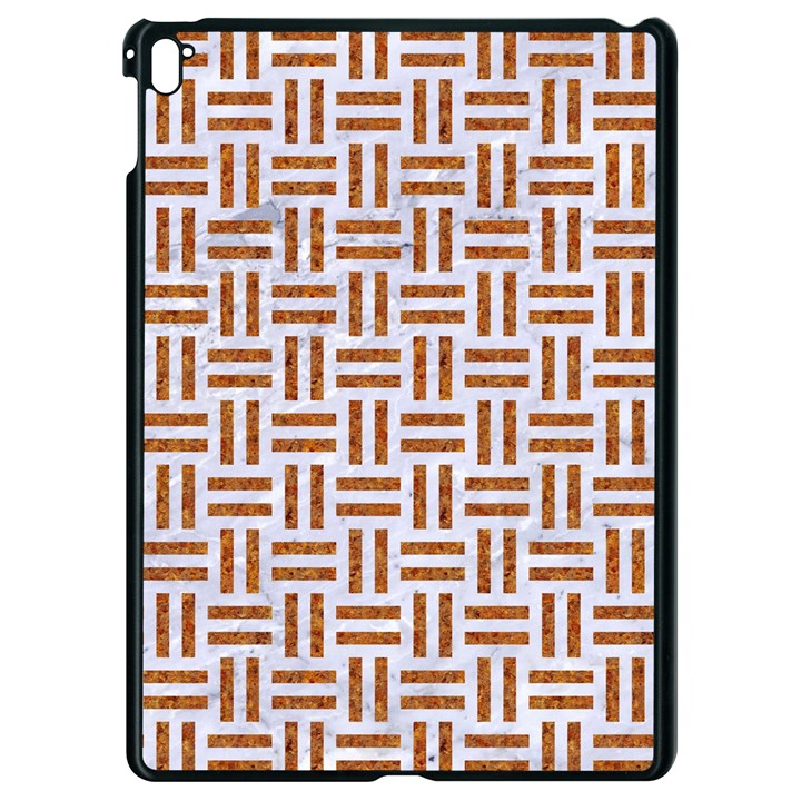 WOVEN1 WHITE MARBLE & RUSTED METAL (R) Apple iPad Pro 9.7   Black Seamless Case