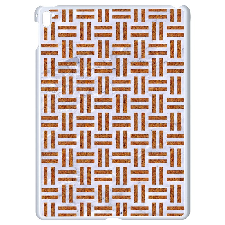 WOVEN1 WHITE MARBLE & RUSTED METAL (R) Apple iPad Pro 9.7   White Seamless Case
