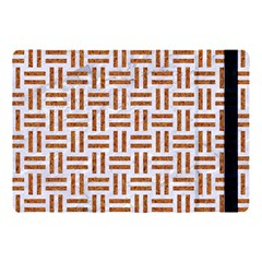 Woven1 White Marble & Rusted Metal (r) Apple Ipad Pro 10 5   Flip Case