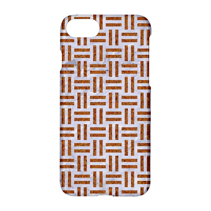 WOVEN1 WHITE MARBLE & RUSTED METAL (R) Apple iPhone 8 Hardshell Case