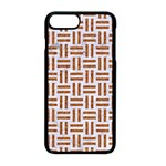 WOVEN1 WHITE MARBLE & RUSTED METAL (R) Apple iPhone 8 Plus Seamless Case (Black) Front