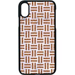 WOVEN1 WHITE MARBLE & RUSTED METAL (R) Apple iPhone X Seamless Case (Black) Front