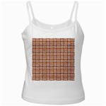 WOVEN1 WHITE MARBLE & RUSTED METAL White Spaghetti Tank Front