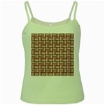 WOVEN1 WHITE MARBLE & RUSTED METAL Green Spaghetti Tank Front