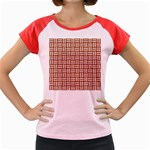 WOVEN1 WHITE MARBLE & RUSTED METAL Women s Cap Sleeve T-Shirt Front