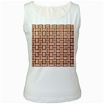 WOVEN1 WHITE MARBLE & RUSTED METAL Women s White Tank Top Front