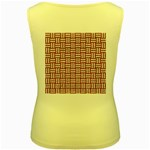 WOVEN1 WHITE MARBLE & RUSTED METAL Women s Yellow Tank Top Back