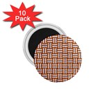 WOVEN1 WHITE MARBLE & RUSTED METAL 1.75  Magnets (10 pack)  Front