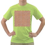 WOVEN1 WHITE MARBLE & RUSTED METAL Green T-Shirt Front