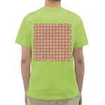 WOVEN1 WHITE MARBLE & RUSTED METAL Green T-Shirt Back