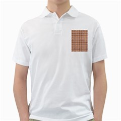 Woven1 White Marble & Rusted Metal Golf Shirts