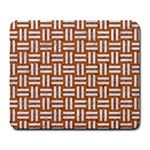 WOVEN1 WHITE MARBLE & RUSTED METAL Large Mousepads Front
