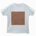 WOVEN1 WHITE MARBLE & RUSTED METAL Kids White T-Shirts Front