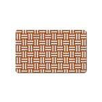 WOVEN1 WHITE MARBLE & RUSTED METAL Magnet (Name Card) Front