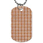 WOVEN1 WHITE MARBLE & RUSTED METAL Dog Tag (One Side) Front
