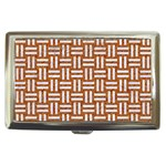 WOVEN1 WHITE MARBLE & RUSTED METAL Cigarette Money Cases Front