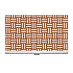 WOVEN1 WHITE MARBLE & RUSTED METAL Business Card Holders Front