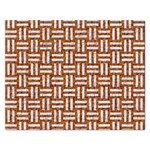 WOVEN1 WHITE MARBLE & RUSTED METAL Rectangular Jigsaw Puzzl Front