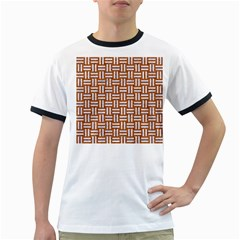 Woven1 White Marble & Rusted Metal Ringer T Shirts