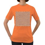 WOVEN1 WHITE MARBLE & RUSTED METAL Women s Dark T-Shirt Front