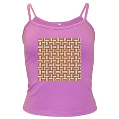 Woven1 White Marble & Rusted Metal Dark Spaghetti Tank