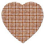 WOVEN1 WHITE MARBLE & RUSTED METAL Jigsaw Puzzle (Heart) Front