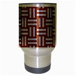 WOVEN1 WHITE MARBLE & RUSTED METAL Travel Mug (Silver Gray) Center