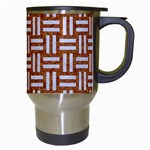 WOVEN1 WHITE MARBLE & RUSTED METAL Travel Mugs (White) Right