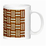 WOVEN1 WHITE MARBLE & RUSTED METAL Night Luminous Mugs Right