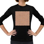 WOVEN1 WHITE MARBLE & RUSTED METAL Women s Long Sleeve Dark T-Shirts Front