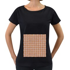 Woven1 White Marble & Rusted Metal Women s Loose Fit T Shirt (black)
