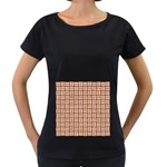 WOVEN1 WHITE MARBLE & RUSTED METAL Women s Loose-Fit T-Shirt (Black) Front