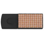 WOVEN1 WHITE MARBLE & RUSTED METAL Rectangular USB Flash Drive Front