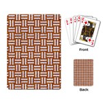 WOVEN1 WHITE MARBLE & RUSTED METAL Playing Card Back